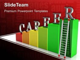Growth histograms and bar graphs templates career ladders leadership ppt backgrounds Powerpoint