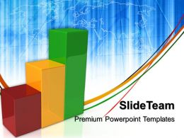 Growth how to make bar graphs powerpoint templates global ppt process