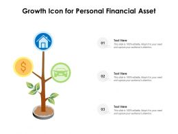 Growth Icon For Personal Financial Asset
