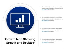 Growth Icon Showing Growth And Desktop