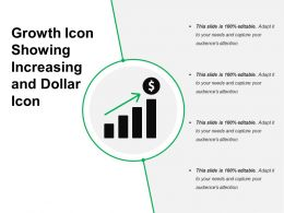 Growth Icon Showing Increasing And Dollar Icon