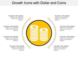 Growth Icons With Dollar And Coins
