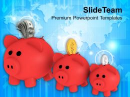 Growth In Financial Savings Business Powerpoint Templates Ppt Themes And Graphics