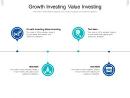 Growth Investing Value Investing Ppt Powerpoint Presentation Layouts Skills Cpb