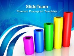 Growth make bar graphs online powerpoint templates cylinder business ppt design