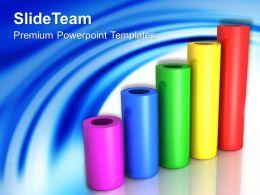 Growth make bar graphs online powerpoint templates cylinder success ppt designs