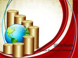 Growth make bar graphs online powerpoint templates dollar ppt slides