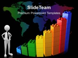 Growth making double bar graphs templates abstract global business ppt slides Powerpoint
