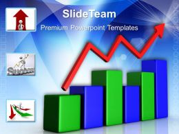 Growth Making Double Bar Graphs Templates Bars Arrows Business Chart Ppt Design Slides Powerpoint
