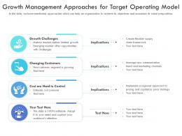 Growth Management Approaches For Target Operating Model