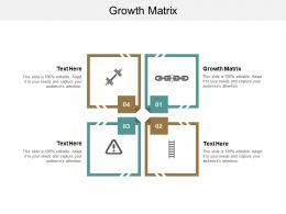 Growth Matrix Ppt Powerpoint Presentation Gallery Design Ideas Cpb