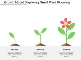 Growth Model Displaying Small Plant Blooming