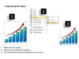 growth of business graph rising upwards arrows powerpoint diagram templates graphics 712