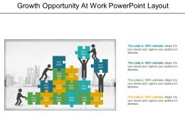 Growth Opportunity At Work Powerpoint Layout