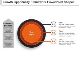 Growth Opportunity Framework Powerpoint Shapes