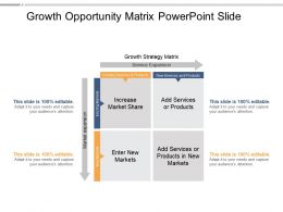 Growth Opportunity Matrix Powerpoint Slide