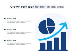Growth Path Icon For Business Revenue