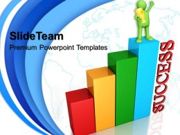 Growth pics of bar graphs powerpoint templates global success ppt process