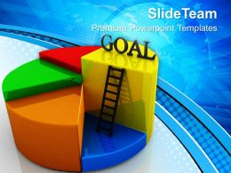 Growth pics of bar graphs templates goal pie chart concept business ppt Powerpoint