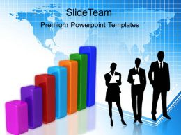 Growth pie charts and bar graphs powerpoint templates success ppt slides