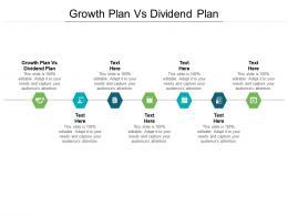 Growth Plan Vs Dividend Plan Ppt Powerpoint Presentation Model Slides Cpb