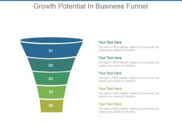 Growth Potential In Business Funnel Ppt Background Images