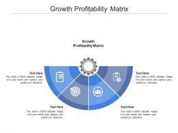 Growth Profitability Matrix Ppt Powerpoint Presentation Professional Samples Cpb