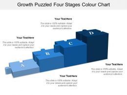 Growth Puzzled Four Stages Colour Chart