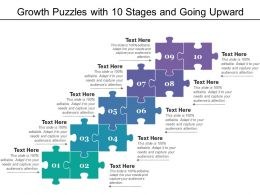 Growth Puzzles With 10 Stages And Going Upward