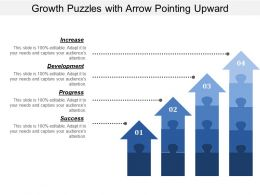 Growth Puzzles With Arrow Pointing Upward