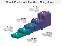 Growth Puzzles With Five Steps Going Upward