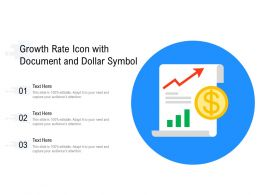 Growth Rate Icon With Document And Dollar Symbol