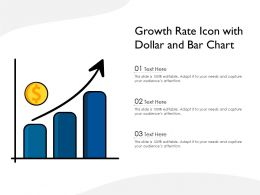 Growth Rate Icon With Dollar And Bar Chart
