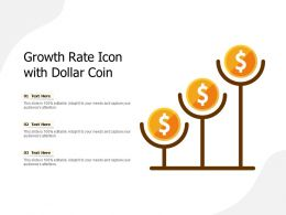 Growth Rate Icon With Dollar Coin