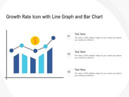 Growth Rate Icon With Line Graph And Bar Chart