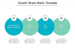 Growth Share Matrix Template Ppt Powerpoint Presentation Infographics Templates Cpb
