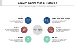 Growth Social Media Statistics Ppt Powerpoint Presentation Styles Gridlines Cpb