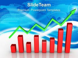 Growth Statistics Bar Graphs Powerpoint Templates Progress Global Ppt Themes