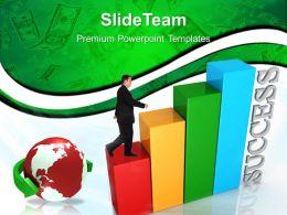 Growth statistics bar graphs templates business success finance ppt slide Powerpoint