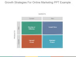 Growth Strategies For Online Marketing Ppt Example