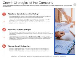 Growth Strategies Of The Company Agenda Powerpoint Presentation Shapes