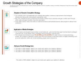 Growth Strategies Of The Company Ppt Powerpoint Download