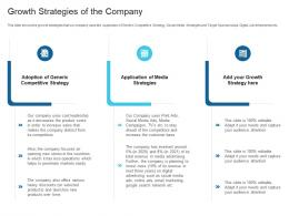 Growth Strategies Of The Company Raise Debt Capital Commercial Finance Companies Ppt Rules