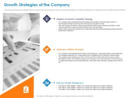 Growth Strategies Of The Company Strategies Ppt Powerpoint Presentation Styles