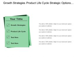 Growth Strategies Product Life Cycle Strategic Options Mobile Internet