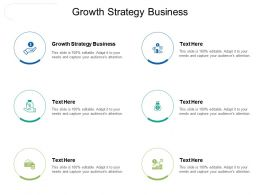 Growth Strategy Business Ppt Powerpoint Presentation Gallery Deck Cpb