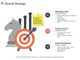 Growth Strategy Customer Service Ppt Powerpoint Presentation Outline Samples