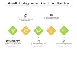 Growth Strategy Impact Recruitment Function Ppt Powerpoint Presentation Layouts Slide Download Cpb