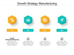 Growth Strategy Manufacturing Ppt Powerpoint Presentation Pictures Icon Cpb