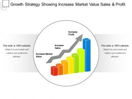 Growth Strategy Showing Increase Market Value Sales And Profit